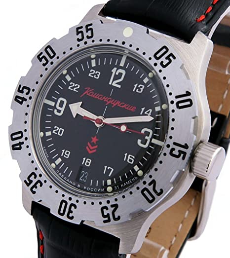 Vostok KOMANDIRSKIE K-35 ruso Militar reloj negro K35 2416/350503: Amazon.es: Relojes