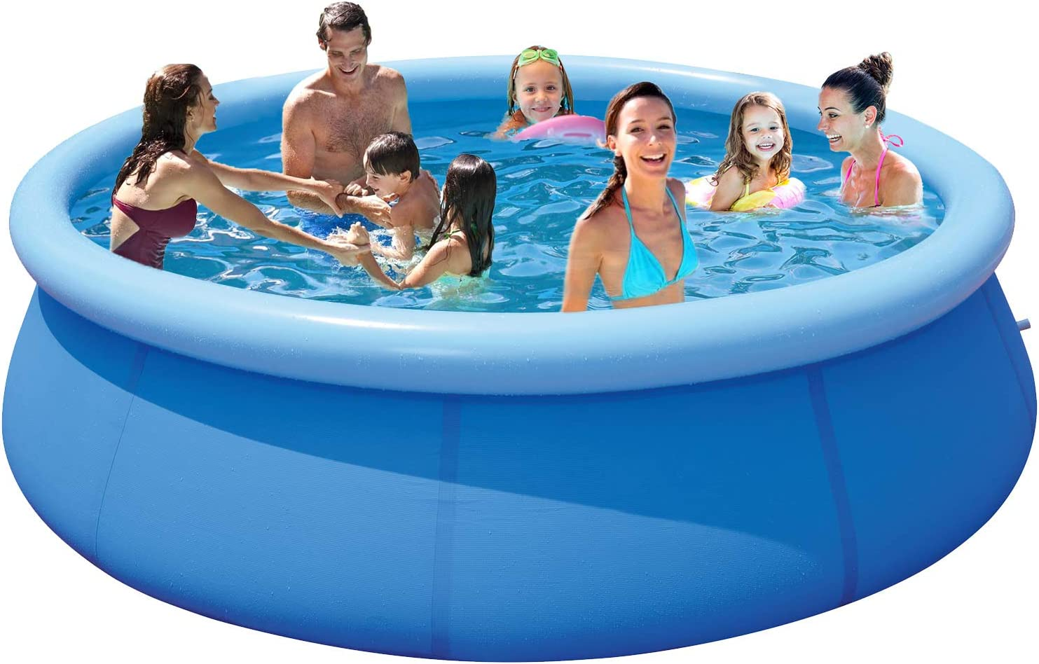 Pugmiia Above Ground Swimming Pools For Adults 12ft X 30in Outdoor Pool Below Up Pool For Kids Pools For Backyard Inflatable Swimming Pool Adult Big Pool For Family Summer