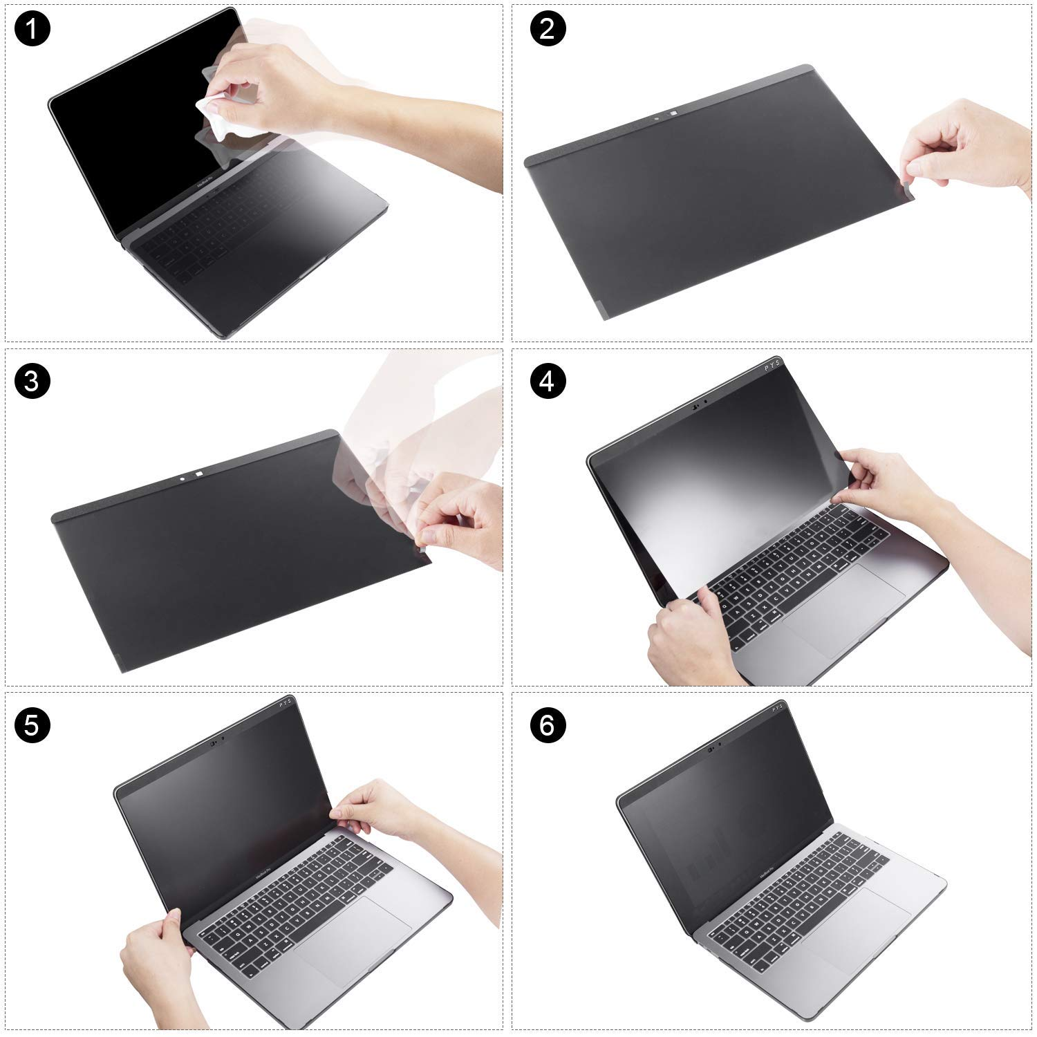 MacBook pro Privacy Screen Protector 13 and 15 inch,Blocks Prying Eyes,Magnetic and Ultra Slim.Easy ON/Off … (MacBook Pro 13 inch (2016-2018)) by JMLY (Image #7)