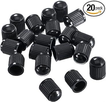 Black 25pcs Plastic Tire Valve Stem Caps Durable Valve Caps Dust Covers for Bike Auto Truck Motorcycle