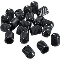Outus 20 Piezas Tapas Antipolvo de Válvula de Neumático para Coche, Moto, Camiones, Bicicleta (Negro)
