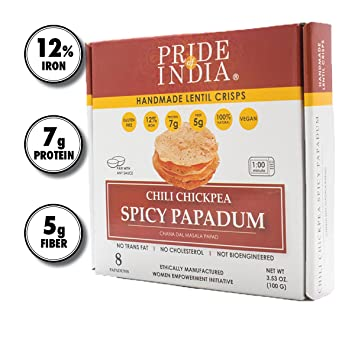 Amazon.com : Pride Of India - Spicy Chickpea Masala Papadum Lentil ...