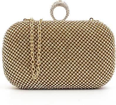 KICCOLY Damen Strass Abendtaschen Clutch Umhänge Tasche Handtasche, Clutch Tasche Elegant Handtasche mit Strass für Party Hochzeit