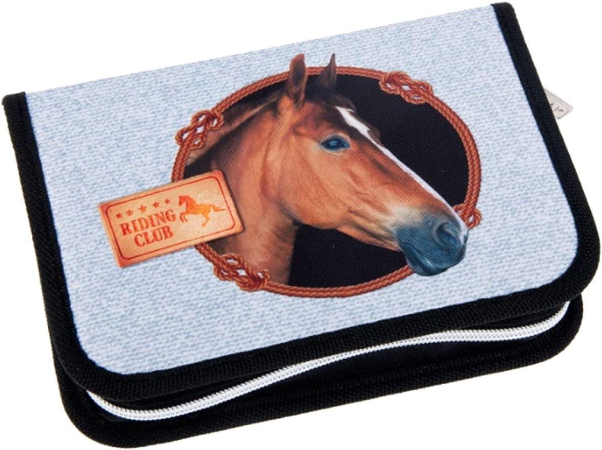 27 Teile Theonoi Pferd Federm/äppchen Federtasche Federmappe M/äppchen Etui 2 Fach Doppeldecker Sch/üleretui Stifteetui GEF/ÜLLT Horse Geschenk