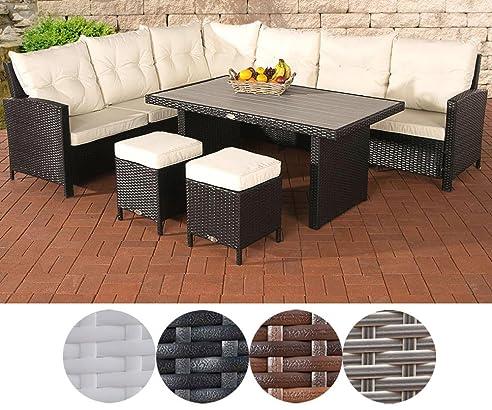 Gartenmöbel Set 8 Personen clp poly rattan gartenmöbel set vicenta lounge möbel garten