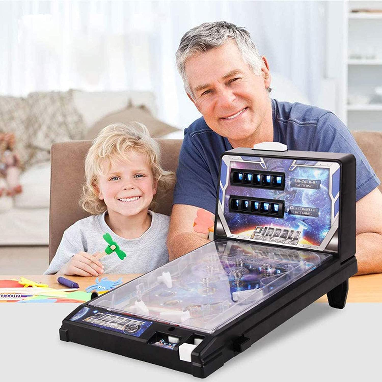 LIUU Mini Pinball Toys Electronic Pinball Games Space Super Pinball Games Child Puzzle Pinball Machine Powered by 6 AA Batteries Best Birthday Gift