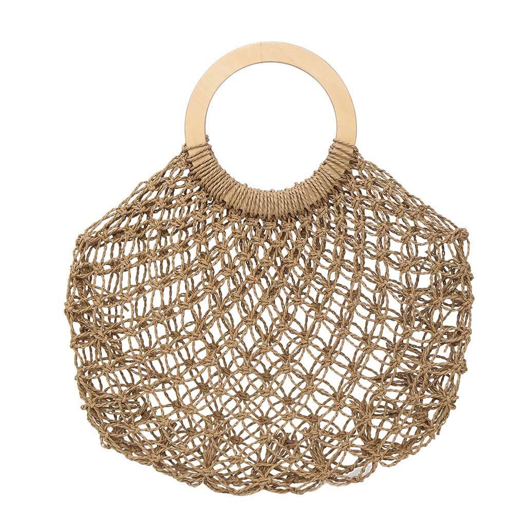 Women's Straw Beach Bag...