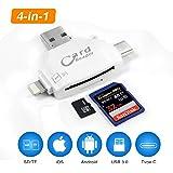 Lightning カード リーダー マイクロ SD カード リーダー IOS/Mac/Android/Windows/Linux用 5Gbps 高速データ/写真/ビデオ伝送 ライ トニング Lightning iPhone iPad マイクロ SD カード カメラ リーダー IOS 8以降対応(ホワイト)