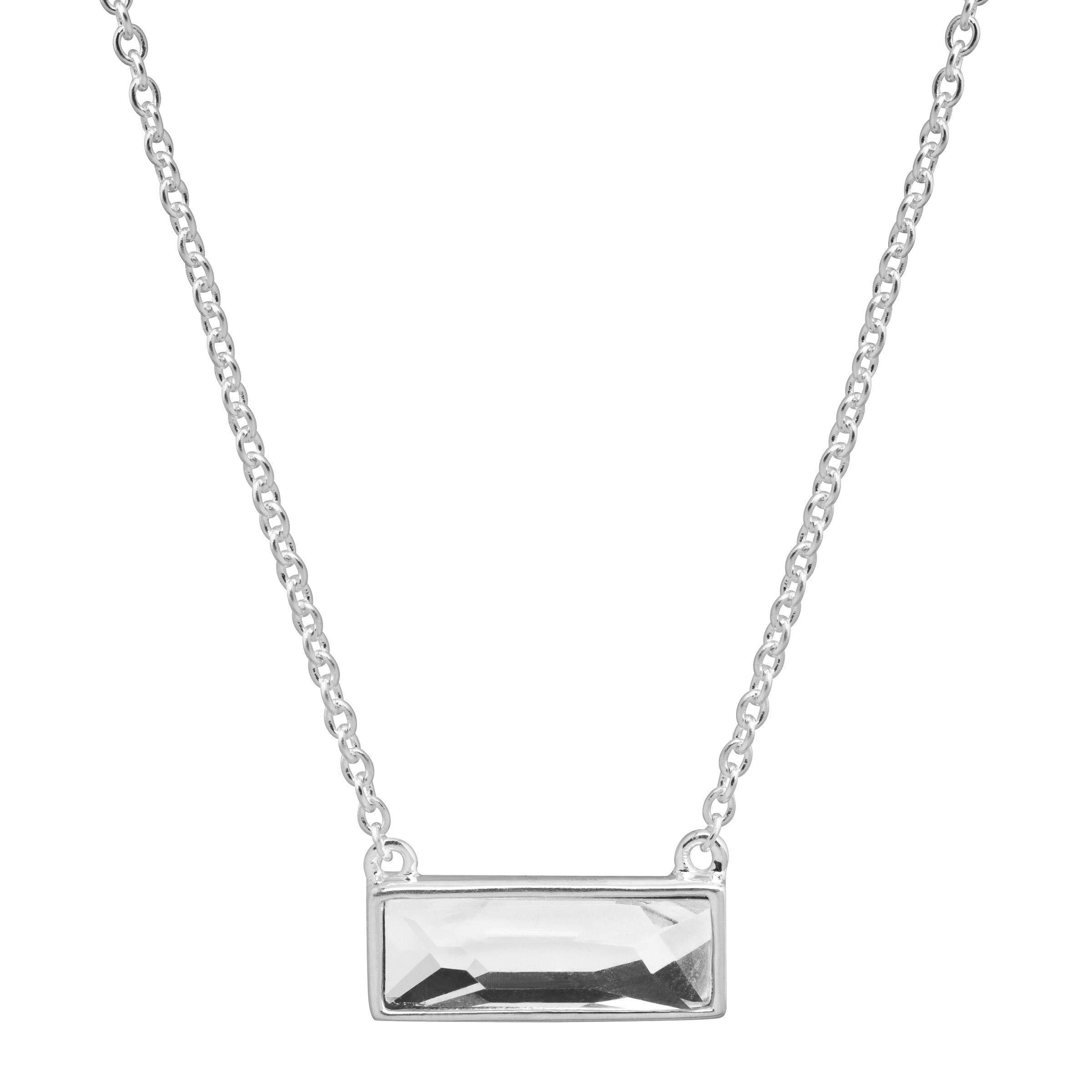 Silpada 'Soirée Not Sorry' Petite White Swarovski Crystal Necklace in Sterling Silver