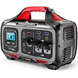ROCKPALS Portable Power Station 500W - 505wh (140400mAh) Solar Generator with 12V Regulated Power Supply, 750W Peak 2 Pure Si