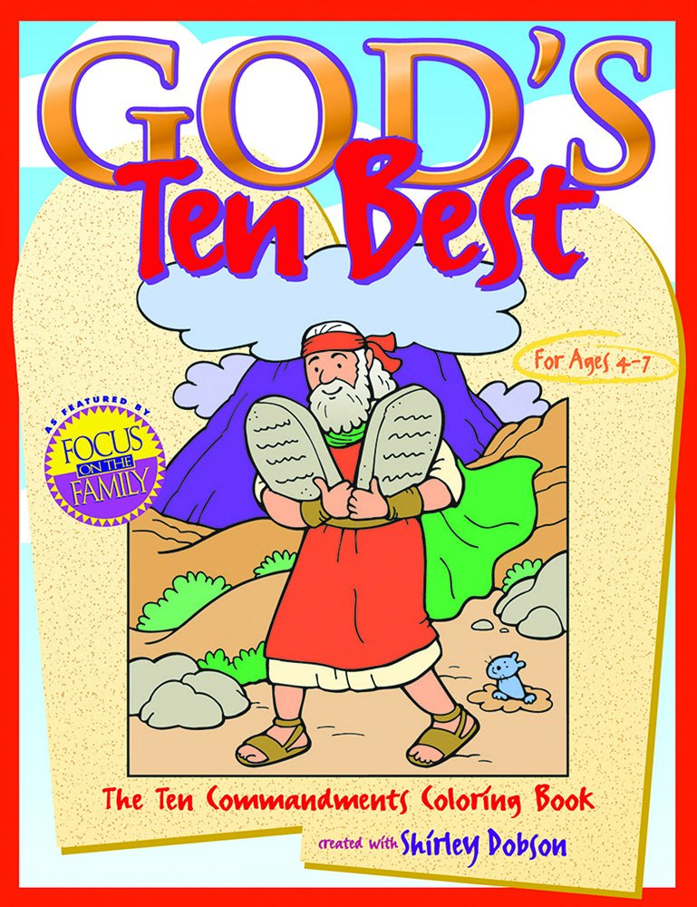 Gods Ten Best The Commandments Coloring Book Books David C Cook 9780830730612 Amazon