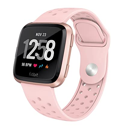 Silicone Bands with Pin-Tuck Closure Replacement for Fitbit Versa Lite UMTELE Compatible for Fitbit Versa /& Versa Lite Bands