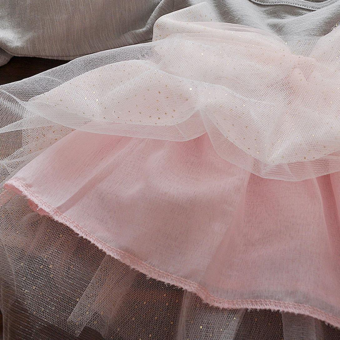 ❤️SHOBDW 2018 Kinder Kleinkind Baby M/ädchen Bowknot Langarm Prinzessin Elegantes Tutu Kleid Kleidung F/ür Hochzeitsfestparty-Fotoshooting