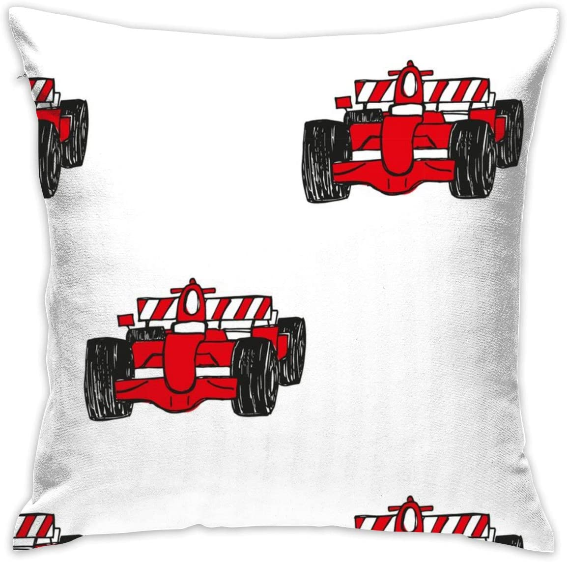 Bagpack Formula 1 Red Racing Cars Pillow Cover 18 X18 Diagram Pillowcase Square Throw Case Cushion For Sofa Decorative Home Kitchen