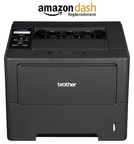 Brother Printer HL6180DW Wireless Monochrome Printer, Amazon Dash Replenishment Enabled
