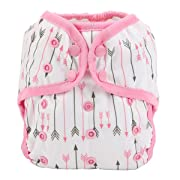 One Size Cloth Diaper Cover Snap with Double Gusset (Pink Arrows)