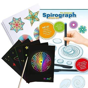 Harxin Spirograph Deluxe Design Set Con Papel Rayado Arcoiris