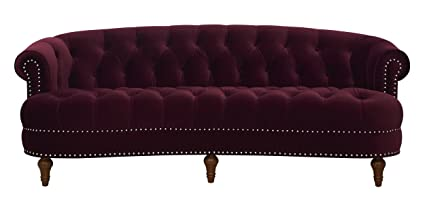 Jennifer Taylor Home La Rosa Collection Chesterfield Style Diamond Tufted  Upholstered Velvet Sofa With Rolled Back