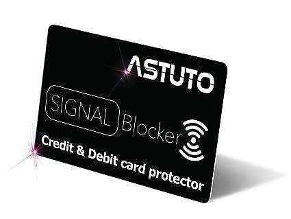 Protector de Tarjetas de crédito contactless - RFID/NFC Card Protector - Card Blocker - Tarjeta de Bloqueo de escáner y lectores de Tarjetas (1 ...