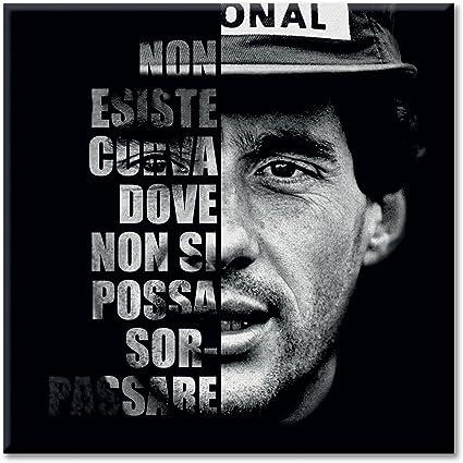 Tela Pannello Tela Frase Citazione Ayrton Senna F1 Lfdc Bera