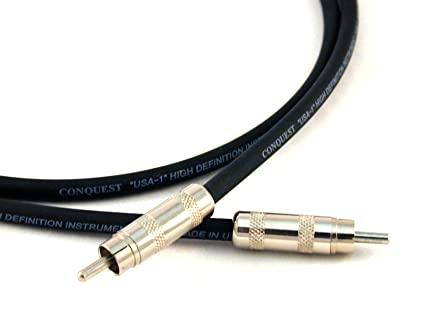 Conquest Sound HRR 20 Hi Definition 20-Foot Instrument RCA Male to RCA Male Cable