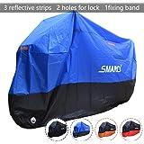 Smarcy Funda Protector para Moto, Cubierta para Moto / Motocicleta Resistente al Agua a Prueba de UV, Color Azul / Negro XXXL