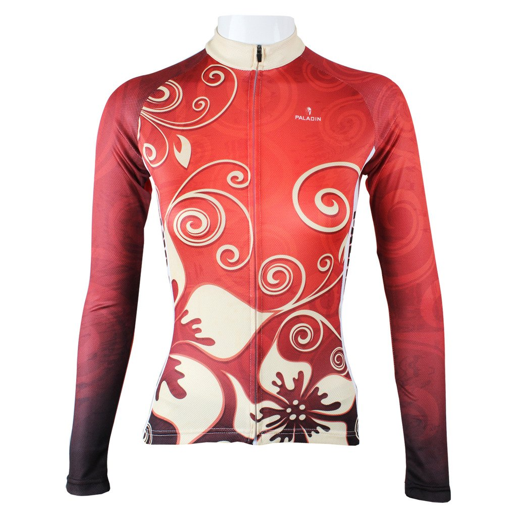PaladinSport Flower Pattern Women's Long Sleeve Breathable Cycling Apparel