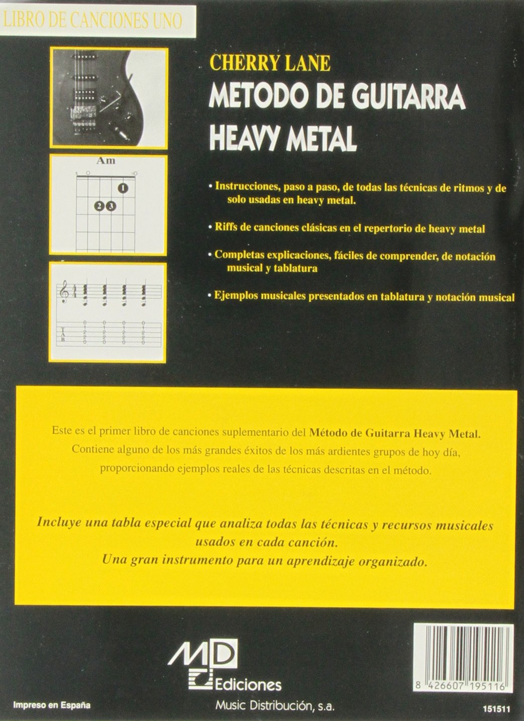 Método de Guitarra Heavy Metal : Libro de Canciones 1: Amazon.es: Aa.Vv., Guitar, with tablature: Libros
