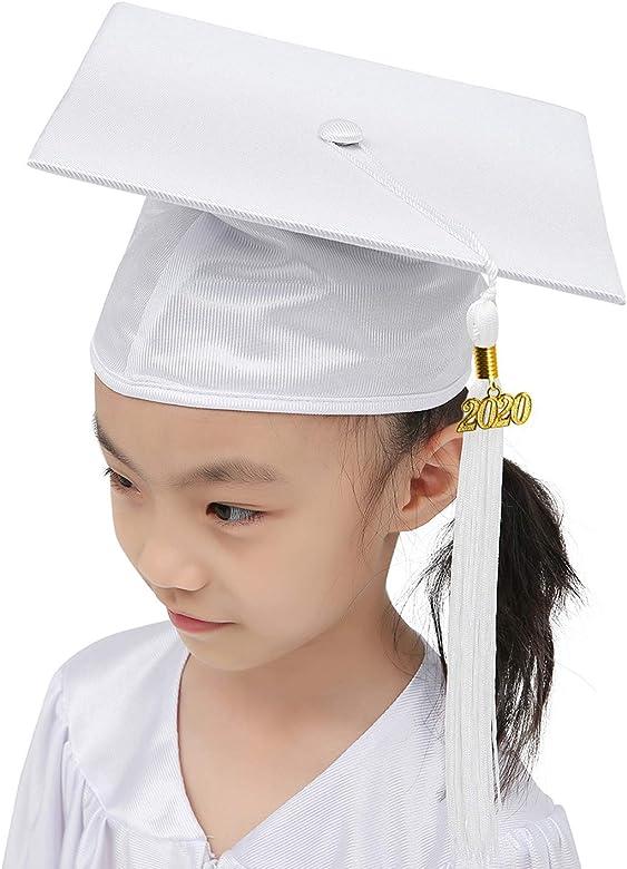GraduationMall Lucente Laurea Cappello e Abito per Bambini Unisex 12 Colori