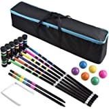 [6 Players]Premium Croquet Set for Families, BroWill Croquet Set with Carrying Bag for Yard Outdoor Lawn Backyard Games…