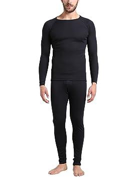 Ultrasport Conjunto de ropa interior térmica para hombre, Negro, L