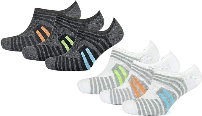 Pack de 6 calcetines deportivos para hombre - Calcetines invisibles: Amazon.es: Ropa y accesorios