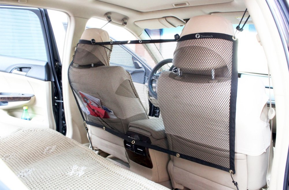 Zone Tech Pet Car Net Barrier – Universal Mesh Vehicle Pet