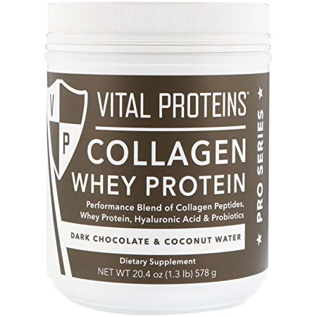 Vital Proteins Pasture-Raised, Grass-Fed Collagen Whey Cocoa Coconut , 20.2 oz Canister