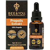Bee&You Propolis Tropfen mit 20% Natürlichem Propolis Extrakt Tropfen (Standardisiert auf 20%, Fairer Handel, Keine Zusatzstoffe, Schutzharz der Bienen)