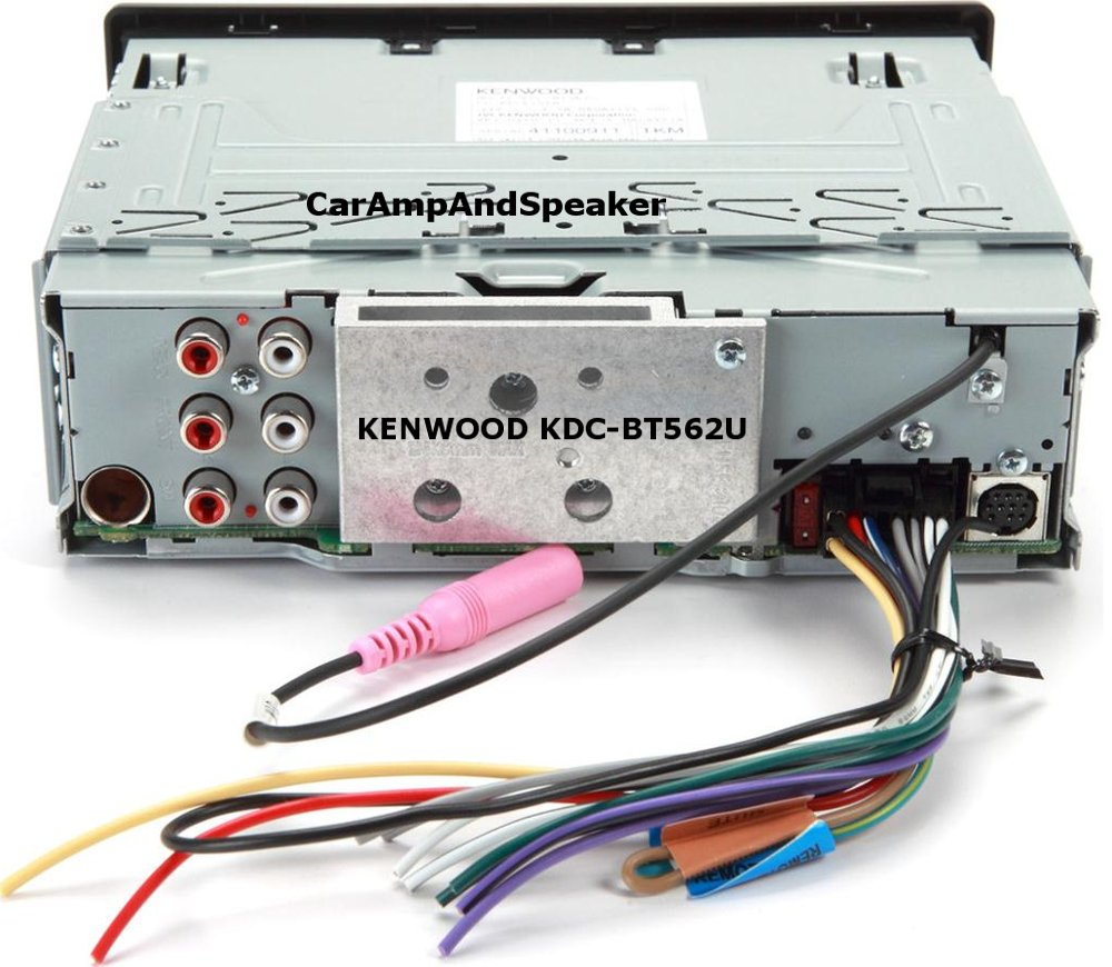 Amazon.com: Kenwood KDC-BT562U CD Single DIN In-Dash Bluetooth Car ...