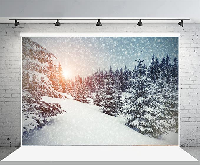 Zhy Merry Christmas Background 5x7ft Father Snowman Reindeer Pull Sleigh Cars Photography Backdrop Theme Party Portrait Shooting Backdrop GEEV198