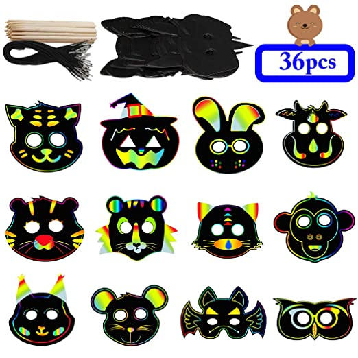 Amazon com: Zoylink 36PCS Kids Party Mask Magic Creative DIY