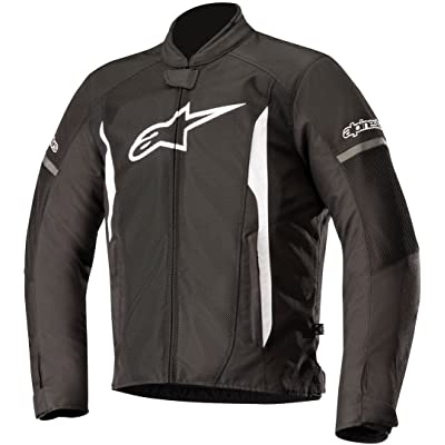 Alpinestars Men's T-Faster Air Motorcycle Jacket, Black/White, Small: Automotive