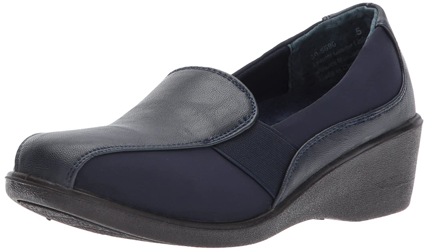 Easy Street Women's Dolores Flat B0717BDSFN 7.5 B(M) US|Navy/Stretch