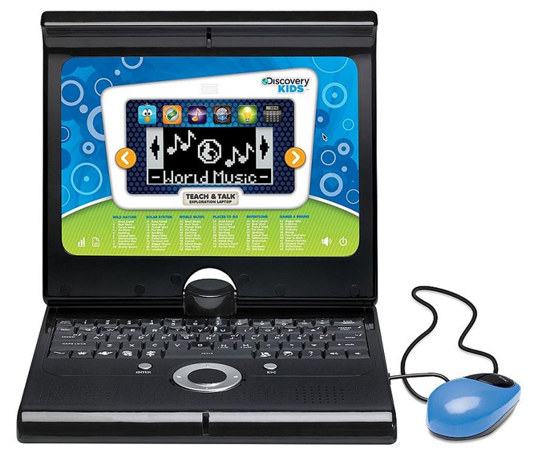 Discovery Kids Teach and Talk Exploration Laptop in Blue by Discovery Kids (Image #1)