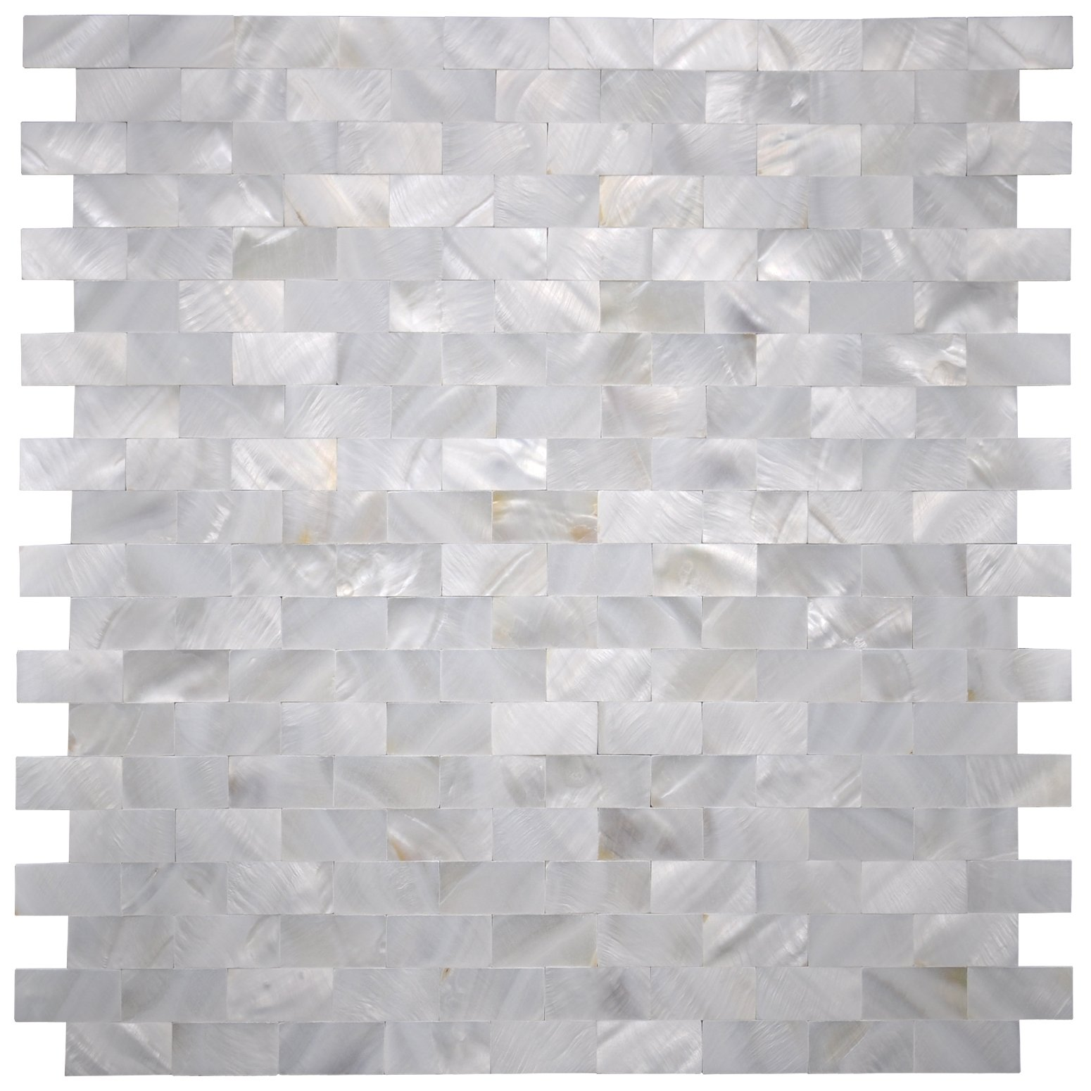 Art3d Mother of Pearl Shell Mosaic Tile for Kitchen Backsplash, 12''x12'' (10 Tiles) by Art3d