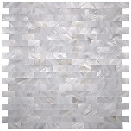 Amazon art3d mother of pearl shell mosaic tile for kitchen art3d mother of pearl shell mosaic tile for kitchen backsplash shower wall tile 12quot ppazfo