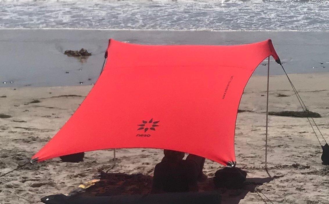 Lehua Red Neso Tente de Plage de Tente de avec lancre de Sable Sunshade portative dauvent Coins renforc/és par Brevet 2.1m x 2.1m