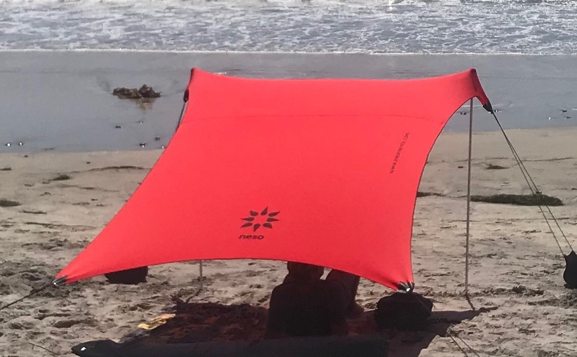 Neso Tents Beach Tent with Sand Anchor, Portable Canopy Sunshade - 7' x 7' - Patented Reinforced Corners(Lehua Red) by Neso