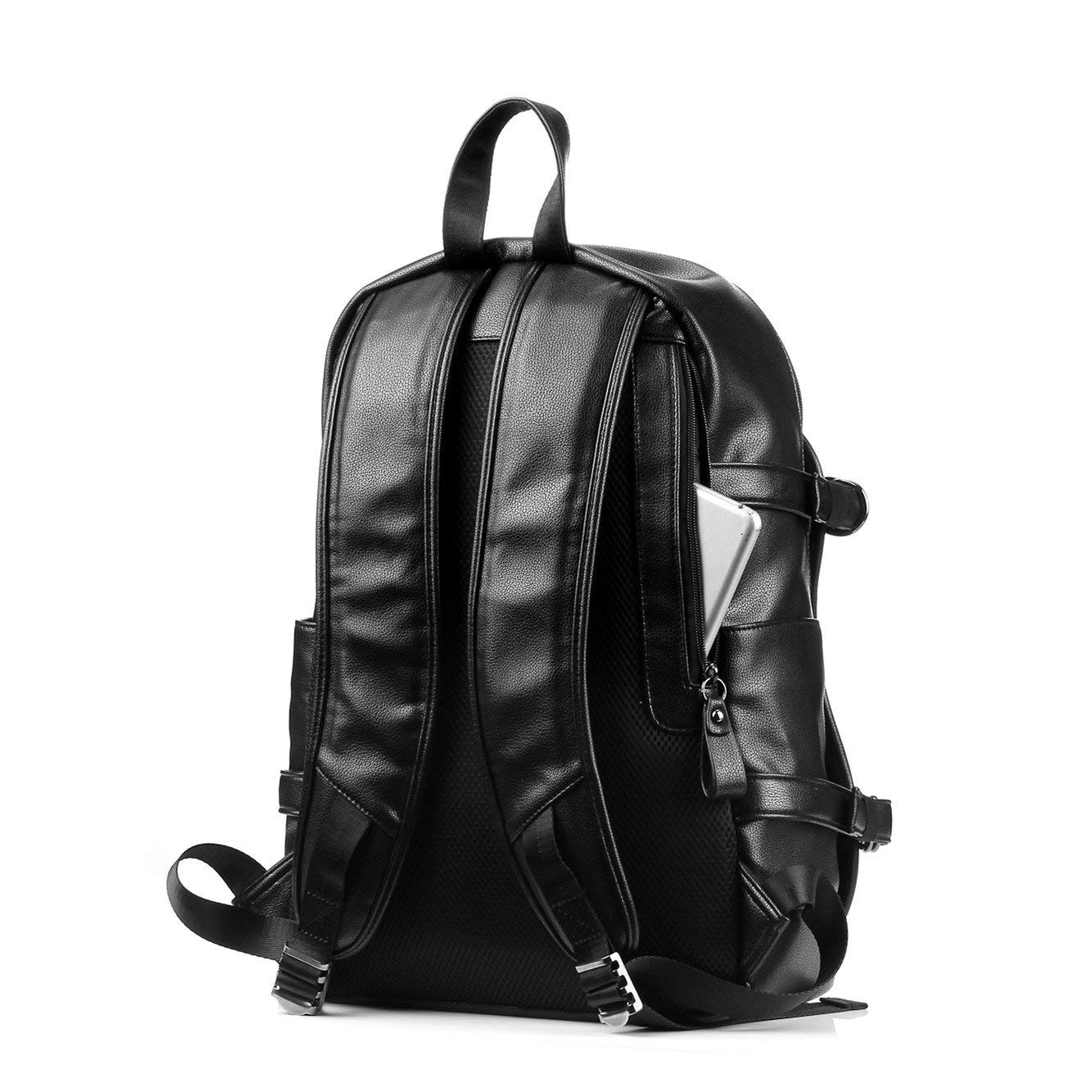 Travel Commuting Commuting Business Trip Popularity high School Student Innovation Design Backpack LIUFENGLONG Backpack Mens Leather Waterproof Large Capacity Black LIUFENGLONG