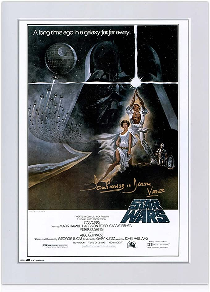 Darth Vader de Star Wars Firmado Poster (Firma de Oro): Amazon.es ...