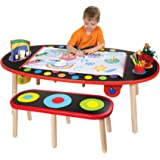 Amazon Com Kidkraft Art Table With Drying Rack And