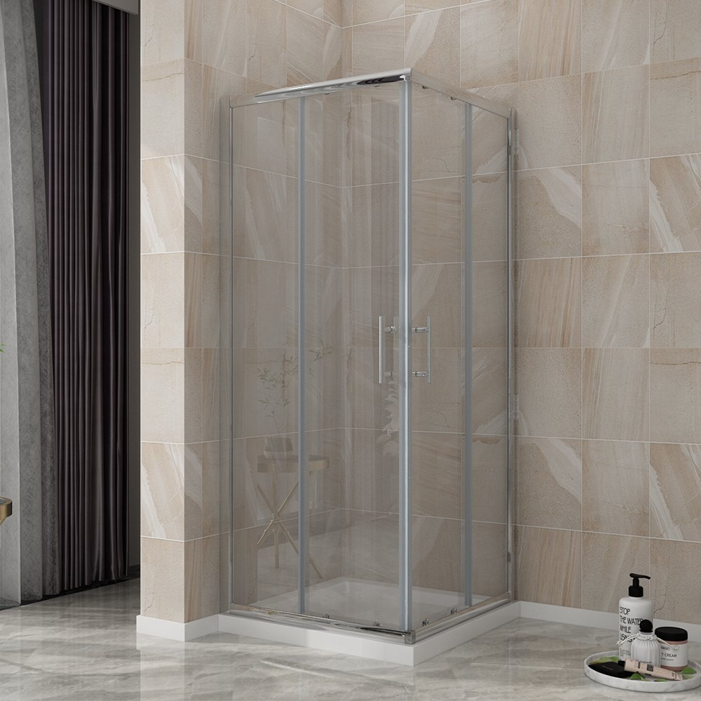 800 x 800 mm Shower Enclosure Corner Entry Shower Cubicle Square Sliding Doors sunny showers
