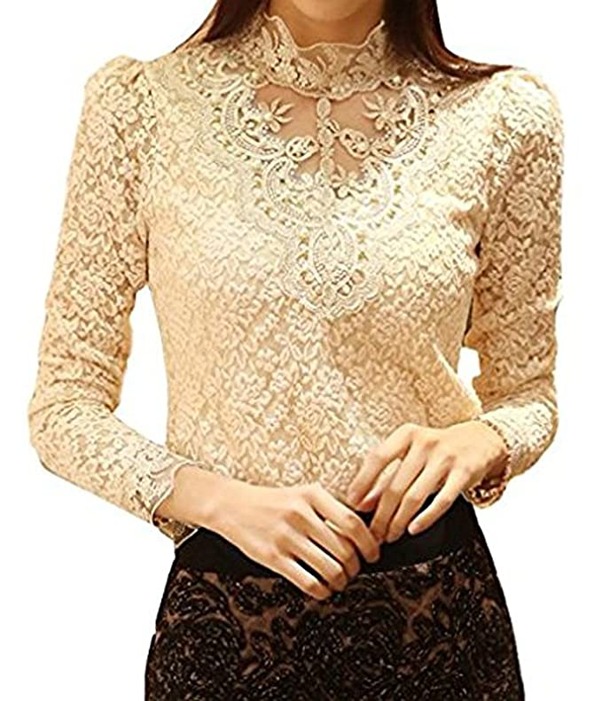 Elegante Blusa Cordón Blusa para fiestas elegantes